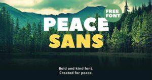 Font Peace Sans