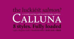 Font Calluna